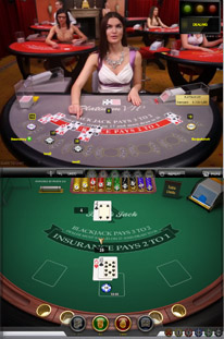 Live Dealer Blackjack vs RNG Online Blackjack