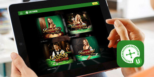 Unite are offering an iOS & Android compatible live casino app.