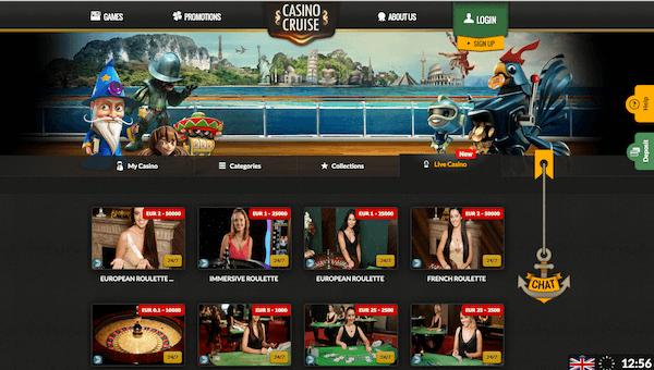 casino cruise live dealer