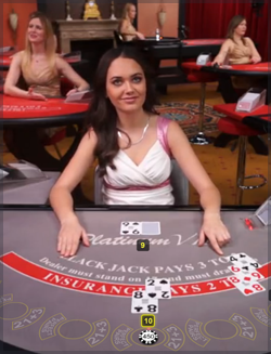 Play live blackjack with friendly casino dealers.