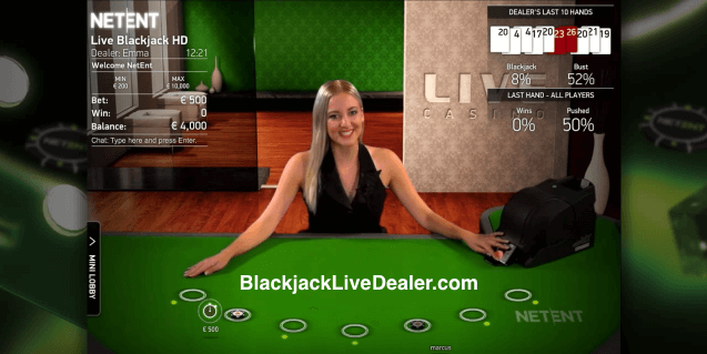 live blackjack netent casino