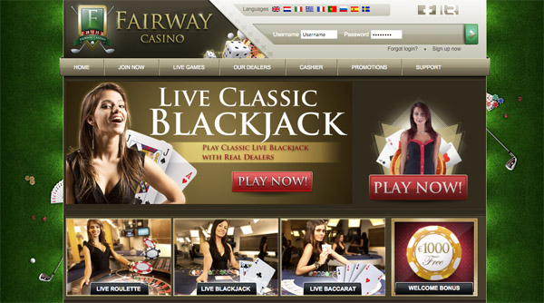Fairway Casino offers Cashback and Bonuses