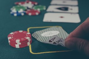 playing blackjack